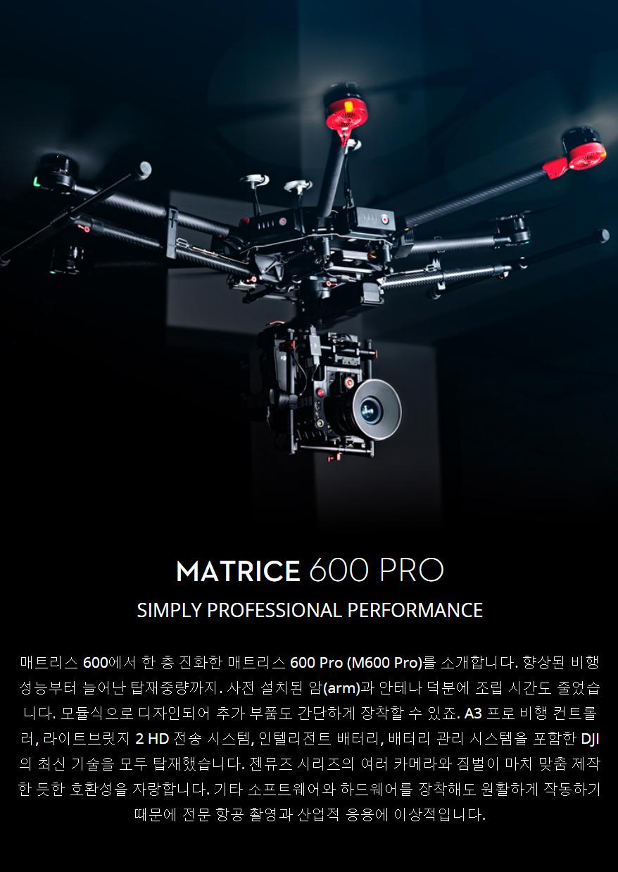 코세코 드론 DJI Matrice 600 Pro